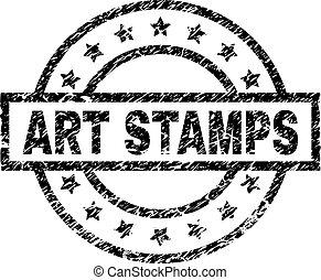 gratté, art, timbre, textured, timbres, cachet