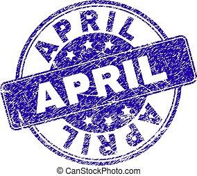 gratté, avril, textured, timbre, cachet
