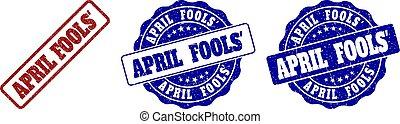 gratté, avril, timbre, fools', cachets