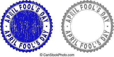 gratté, avril, timbres, fool's, textured, jour