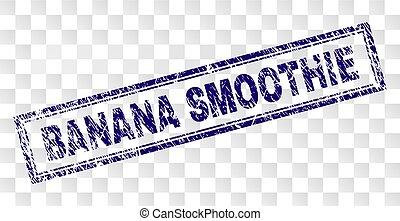 gratté, banane, smoothie, rectangle, timbre