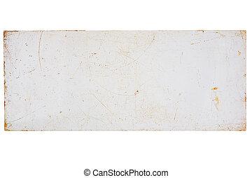 gratté, blanc, vieux, planche, plastique