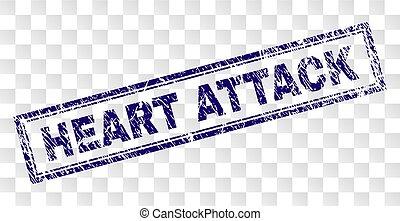 gratté, crise cardiaque, rectangle, timbre