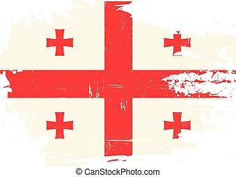 gratté, drapeau, géorgie