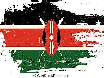 gratté, drapeau kenya