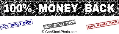 gratté, grunge, argent, 100%, dos, timbres, rectangle