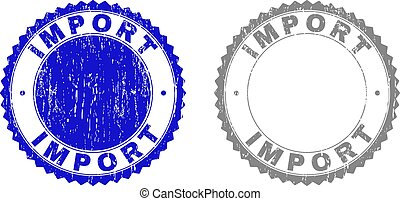 gratté, importation, timbres, grunge