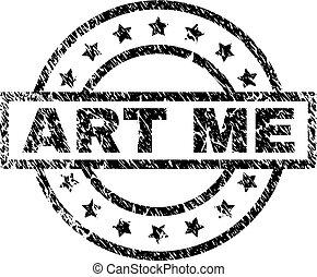 gratté, me, art, timbre, cachet, textured