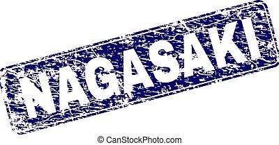 gratté, nagasaki, arrondi, timbre, encadré, rectangle