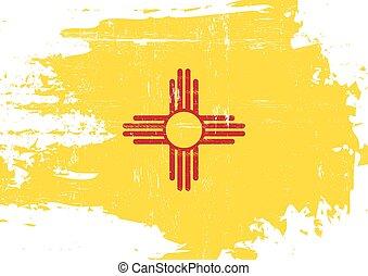 gratté, nouveau, drapeau, mexique