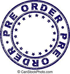 gratté, pré, timbre, textured, ordre, cachet, rond
