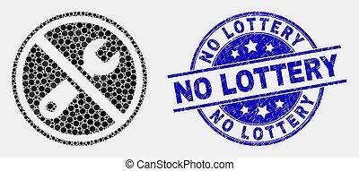 gratté, réparation, loto, non, timbre, interdit, vecteur, cachet, point, icône