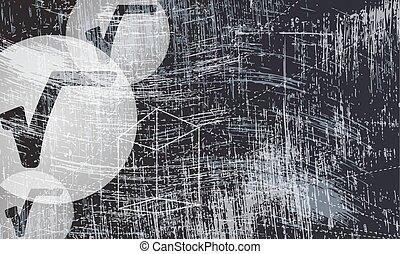 gratté, radix, géométrie, symbole, objets, fond, transparent