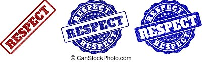 gratté, respect, timbre, cachets