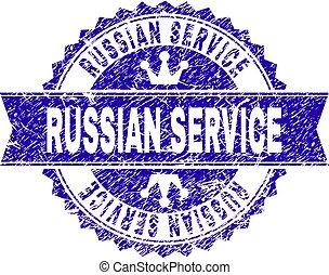 gratté, service, timbre, textured, cachet, russe, ruban