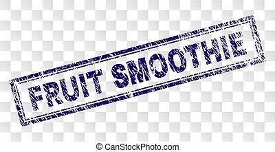 gratté, smoothie fruit, rectangle, timbre