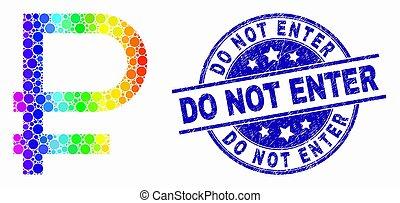 gratté, symbole, entrer, spectre, rouble, vecteur, cachet, pas, point, icône