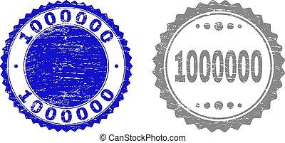 gratté, timbre, 1000000, cachets, textured, ruban
