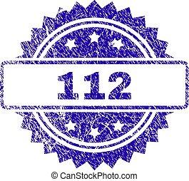 gratté, timbre, 112, cachet