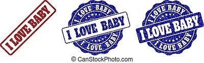 gratté, timbre, amour, bébé, cachets