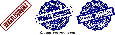 gratté, timbre, assurance médicale, cachets