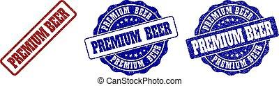 gratté, timbre, bière, prime, cachets