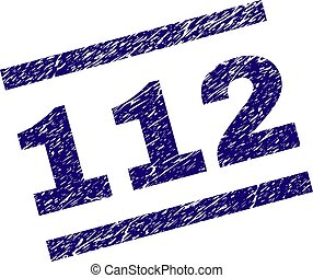 gratté, timbre, cachet, textured, 112