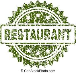 gratté, timbre, cachet, textured, restaurant