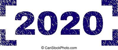 gratté, timbre, coins, intérieur, cachet, 2020, textured