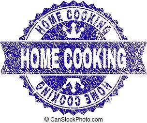 gratté, timbre, cuisine, cachet, maison, ruban, textured