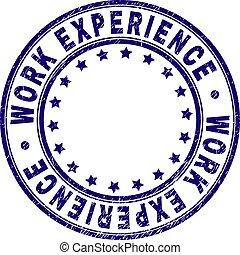 gratté, timbre, expérience professionnelle, cachet, rond, textured