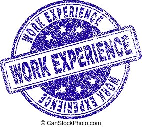 gratté, timbre, expérience professionnelle, textured, cachet