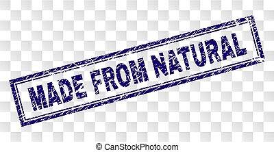 gratté, timbre, fait, naturel, rectangle