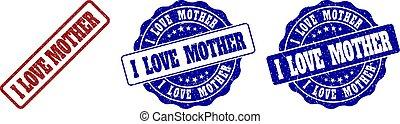 gratté, timbre, mère, amour, cachets
