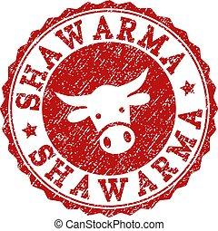 gratté, timbre, shawarma, cachet