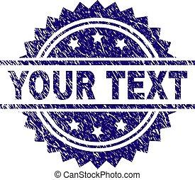 gratté, timbre, texte, cachet, textured, ton