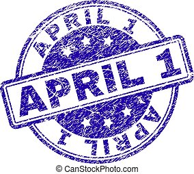 gratté, timbre, textured, 1, avril, cachet