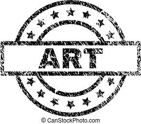gratté, timbre, textured, art, cachet