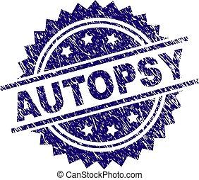 gratté, timbre, textured, autopsie, cachet