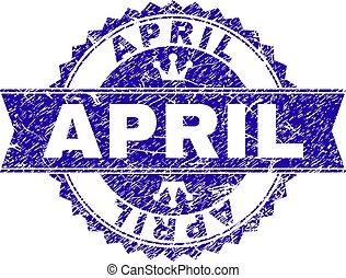 gratté, timbre, textured, avril, cachet, ruban