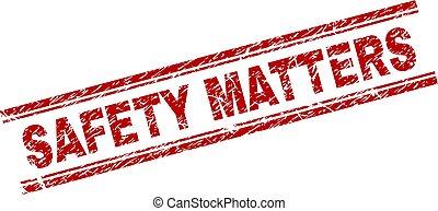gratté, timbre, textured, compter, label sécurité