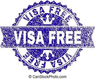 gratté, timbre, textured, gratuite, visa, cachet, ruban