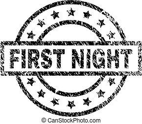 gratté, timbre, textured, nuit, cachet, premier