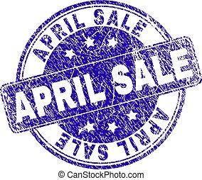 gratté, timbre, textured, vente, avril, cachet