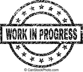 gratté, timbre, travail, cachet, progrès, textured