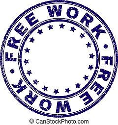 gratté, timbre, travail, gratuite, cachet, rond, textured