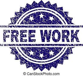 gratté, timbre, travail, gratuite, textured, cachet