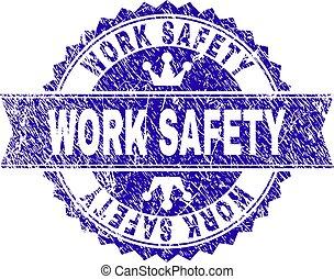 gratté, timbre, travail, label sécurité, ruban, textured