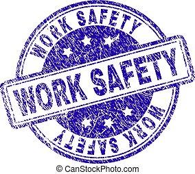 gratté, timbre, travail, sécurité, textured, cachet