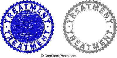 gratté, timbres, grunge, traitement